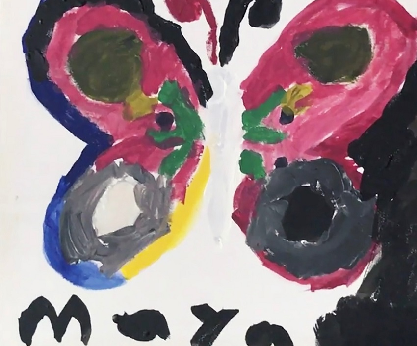 Colorful butterfly painting created by Maya.