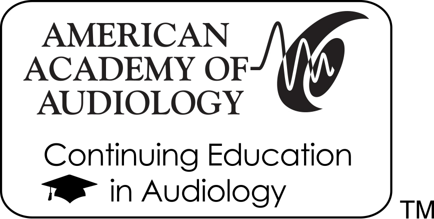 Logo: American Academy of Audiology - Continuing Education in Audiology